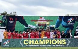 B.Bình Dương vô địch giải bóng đá quốc tế U13 Việt Nam - Nhật Bản 2020