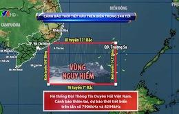 Áp thấp nhiệt đới gây thời tiết xấu ở các vùng biển phía Nam