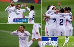 """Eibar 1-3 Real Madrid: """"Kền kền trắng"""" áp sát ngôi đầu với kình địch Atletico"""