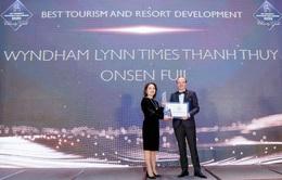 Wyndham Thanh Thủy được vinh danh dự án phát triển du lịch và nghỉ dưỡng tốt nhất Đông Nam Á 2020