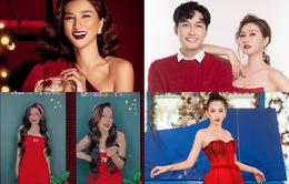 """Ngắm sao Việt diện đầm đỏ """"cực chất"""" dịp Giáng sinh"""