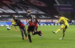 Frankfurt 1-1 Borussia Dortmund: Trận hòa đầu tiên của đương kim Á quân (Vòng 10 Bundesliga)