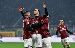 Zlatan Ibrahimovic thiết lập cột mốc ấn tượng trong màu áo AC Milan