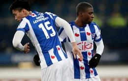 Văn Hậu dự bị, SC Heerenveen dừng bước ở tứ kết cúp quốc gia Hà Lan