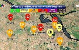 Chất lượng không khí tại Hà Nội ở mức xấu