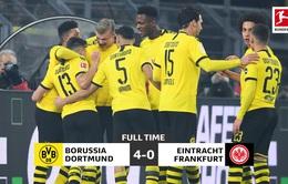 Vòng 22 VĐQG Đức Bundesliga: Dortmund giành chiến thắng thuyết phục trước Frankfurt