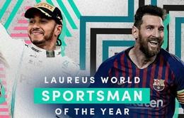 Lionel Messi cùng Lewis Hamilton được trao giải thưởng VĐV thể thao của năm