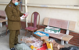 Lạng Sơn: Tiêu hủy gần 160 kg thịt đông lạnh không rõ nguồn gốc