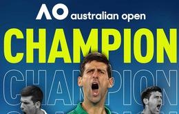 [KT] Novak Djokovic 3-2 Dominic Thiem: Chức vô địch Australia mở rộng thứ 8 cho Nole
