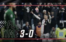 Vòng 22 VĐQG Italia, Juventus 3-0 Fiorentina: Ronaldo toả sáng, Juventus vững ngôi đầu