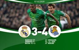 Tứ kết Cúp Nhà vua Tây Ban Nha, Real Madrid 3-4 Sociedad: Dừng bước ngay tại Bernabeu!
