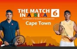 """Những thống kê về """"trận đấu vì châu Phi"""" giữa Roger Federer và Rafael Nadal"""