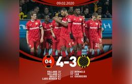 Bayer Leverkusen 4-3 Borussia Dortmund: Cơn mưa bàn thắng