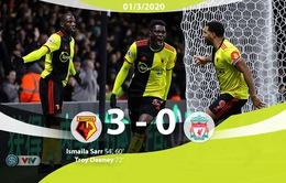 Liverpool thua sốc trước Watford
