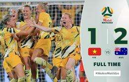 [KT] ĐT nữ Việt Nam 1-2 ĐT nữ Australia: Màn trình diễn đáng khen ngợi!