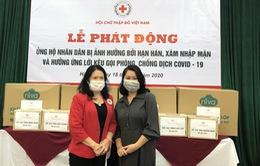 Hội CTĐ Việt Nam phát động ủng hộ nhân dân bị ảnh hưởng hạn mặn và kêu gọi phòng, chống dịch Covid-19