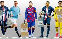 Bất ngờ vị trí của Messi trong top 10 cầu thủ giá trị nhất thế giới