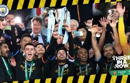 Vượt qua Aston Villa, Man City giành cúp vô địch Liên đoàn Anh