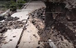 Cà Mau: Thêm nhiều vụ sụt lún nghiêm trọng trong tuần qua