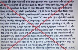"""Xử lý 2 trường hợp tung tin đồn Hà Nội """"vỡ trận""""chống COVID-19"""
