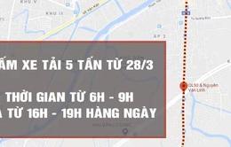 TP.HCM: Cấm xe tải lưu thông theo giờ trên Quốc lộ 50