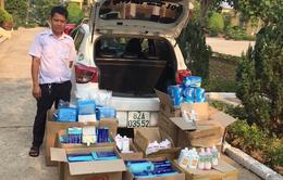 Xuất lậu số khẩu trang, găng tay y tế, nước sát khuẩn qua Lào