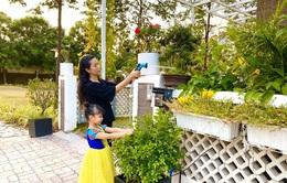 """Khu vườn xanh """"mướt mắt"""" trong biệt thự 200m2 của Trịnh Kim Chi"""