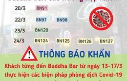 TP.HCM tiếp tục khuyến cáo những người đến quán bar Buddha từ ngày 13 - 17/3