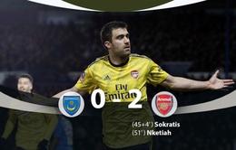 Portsmouth 0-2 Arsenal: Pháo thủ tìm lại cảm giác chiến thắng!