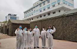 Dựng bệnh viện dã chiến trong khuôn viên Bệnh viện Bạch Mai