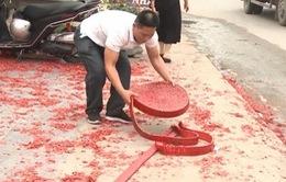 Hà Nội: Tạm giữ hình sự đối tượng đốt pháo tại đám cưới ở Sóc Sơn