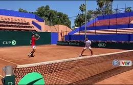 ĐT quần vợt Việt Nam tích cực tập thể lực