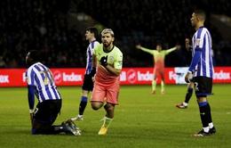 Sheffield Wednesday 0 - 1 Manchester City: Man City chật vật vào tứ kết FA Cup