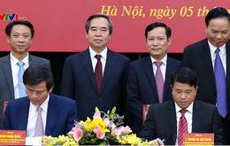 Ký kết chương trình phối hợp công tác giữa Đảng ủy Khối DN Trung ương với Bộ Biên tập Tạp chí Cộng sản