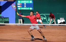 Vòng play-off Davis Cup 2020: ĐT quần vợt Việt Nam không thể gây bất ngờ trước ĐT Ma-rốc
