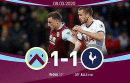 Burnley 1-1 Tottenham: Cứu nguy nhờ phạt đền