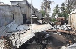 An Giang: Hỏa hoạn thiêu rụi 6 căn nhà ở huyện biên giới An Phú