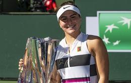 Bianca Andreescu rút lui khỏi giải quần vợt Indian Wells