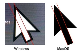 Lý giải thiết kế dường như bị lệch của con trỏ chuột trên Windows 10