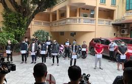 Tạm giữ 15 đối tượng tụ tập đua xe tại hồ Hoàn Kiếm