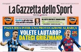 Inter Milan muốn trao đổi cầu thủ nếu phải bán Lautaro Martinez