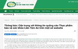 Cẩn trọng thông tin quảng cáo sản phẩm Tâm An Lạc Tiên, Liên Tâm An, Thăng trĩ mộc hoa trên một số website