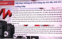 Việt Nam không có khả năng dự trữ dầu thô khi giá xuống thấp