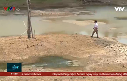 Người dân lo lắng vì hồ trữ nước lớn nhất miền Tây khô cạn