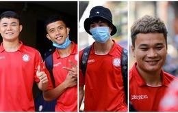 Các cầu thủ CLB TP Hồ Chí Minh rạng rỡ trong ngày đầu hội quân