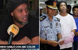 Lần đầu lên tiếng sau cú sốc phải ngồi tù, Ronaldinho nói điều gì?