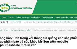 Hai sản phẩm Mr Sun và NAVIGOUT quảng cáo trên một số website có dấu hiệu lừa dối người tiêu dùng