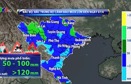 Cảnh báo sạt lở đất ở Bắc Bộ do mưa lớn