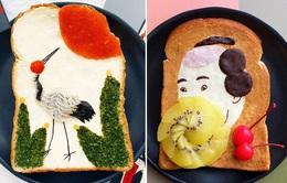 Độc đáo sáng tạo nghệ thuật từ bánh mì nướng
