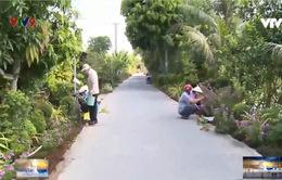 Vĩnh Long khoác áo hoa cho đường nông thôn mới